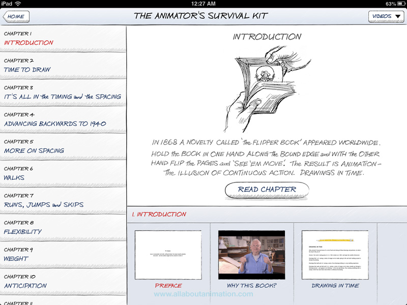 Richard Williams - The Animator's Survival Kit iPad App - Chapters