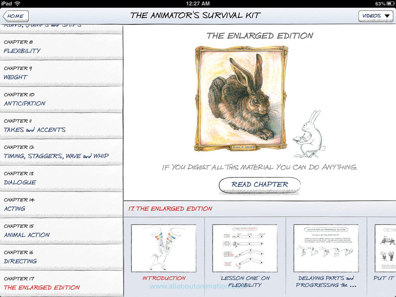 Richard Williams - The Animator's Survival Kit iPad App - Enlarged Edition
